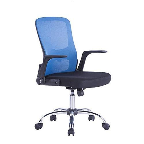 Lwieui Silla de Oficina Silla de Oficina arqueado Oficina de Formación Silla ejecutiva Rotatoria Las sillas de Escritorio (Color : Azul, Size : Free Size)