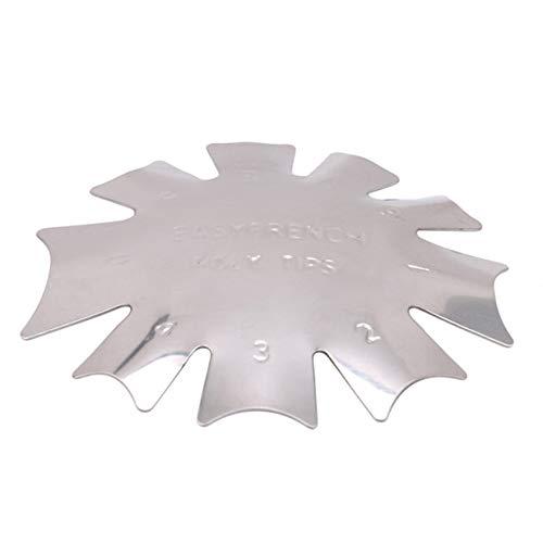 EJY Acier Inoxydable C-Forme Français Manucure Décoration Nail Art Bord Tondeuse DIY Plaque Module Nail Acrylique Outil Kit,Style 2