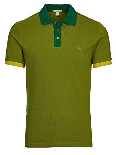 Burberry Brit - Polo para hombre, color verde Verde Verde cítrico M