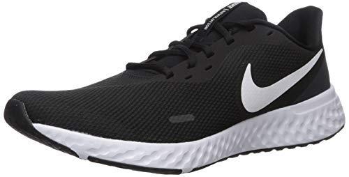 Nike Men's Revolution 5 Wide Running Shoe, Black/White-Anthracite, 12 4E US