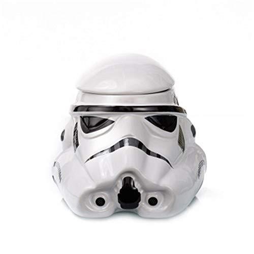Star Wars Stormtrooper-Tasse, 3D-Samurai-Kaffee-Milchbecher, Geschenke für Valentinstag, Geburtstag, Familiendekoration (weiß)