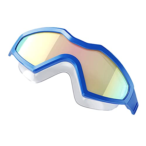 LIMESI Protección UV Gafas de Natación Unisexo Polarizado Gafas Nadar Anti Niebla Ninguna Fuga Ajuste Ergonómico en 3D Gafas de Protección-Blue