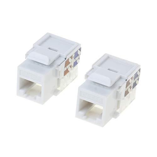bogji 2pcs CAT5e-netwerkmodule-informatiebus RJ45-ethernetkabelmodule-stekker-netwerkaansluiting-adapter CAT5e-vergulde keystone-bus