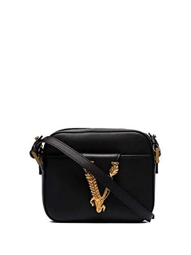 Luxury Fashion | Versace Dames DBFH312D5VITK41OT Zwart Leer Schoudertassen | Lente-zomer 20