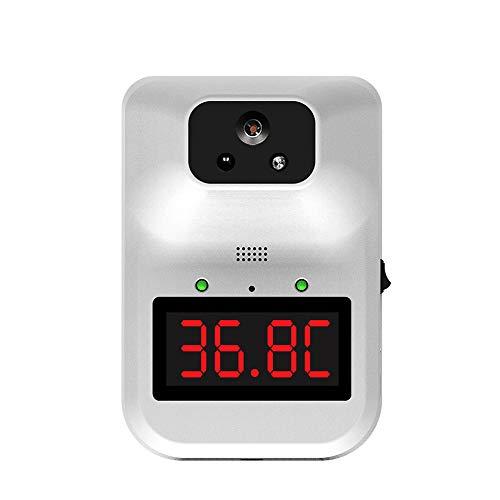 ZUHANGMENG K3-Plus Termómetro infrarrojo montado en la pared, termómetro infrarrojo instantáneo sin contacto con pantalla digital, detector de temperatura para oficina, lugar pulic
