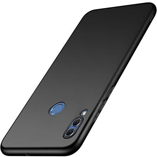 FUMUM Huawei P20 Lite Hülle Schwarz, Premium Silikon Handyhülle TPU Flexibel Schutzhülle für Huawei P20 Lite Case Schwarz[Anti-Fingerprint][Kratzfest]