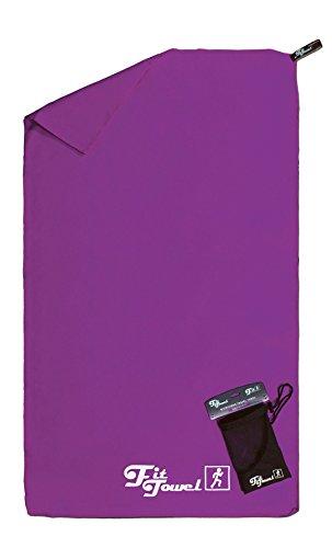 Toalla de microfibra perfecta para el ejercicio, el campamento, el gimnasio, los viajes, la playa y más Púrpura Grande [150x90cm]