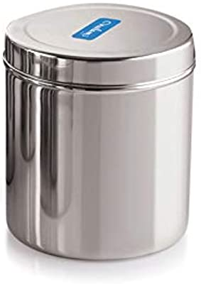 Neelam Stainless Steel 13 22G Deep Dabba, 2600 ml, Silver