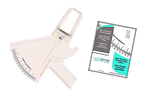 Slim Guide Plicometro para Medir Grasa Corporal con Manual en Español (Blanco)