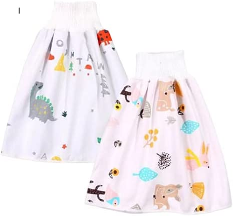 Potty Training Diaper Skirt – Soft Cotton Training Pants for Boys and Girls (0-4T)