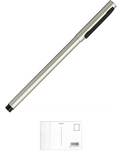 ゼブラ エマルジョンボールペン フォルティアem インク色:黒 軸色:銀 BA98-S (× 3 本) + 画材屋ドットコム ポストカードA