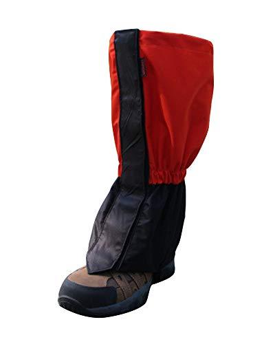 YAOTT 1 par Polainas Impermeables de Invierno Cubierta de Zapatos Deportivos al Aire Libre para Escalada Senderismo para niños/Adultos Rojo