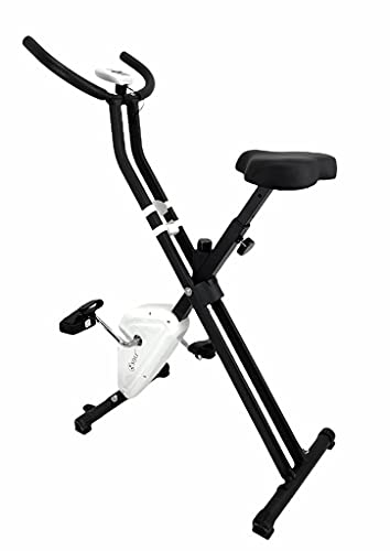 Cyclette da Camera Pieghevole, Bici per Fitness, Bici per Esercizi Riabilitazione, Cyclette per Dimagrire, Sedile Ergonomico e Regolabile, Perdere Peso