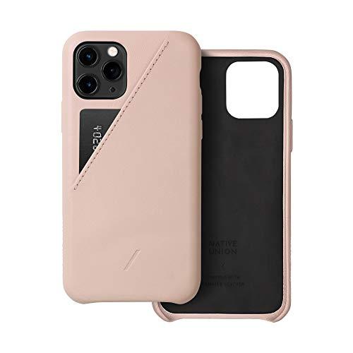 NATIVE UNION CLIC Card Case スマホケース iPhone 11 Pro 対応 - レザー 本革 カードホルダー付き (ヌード)