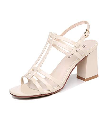 ZY&FC dikke hak sandalen vrouwen zomer Romeinse vis mond vrouwen schoenen kleine vers woord gesp hoge hakken
