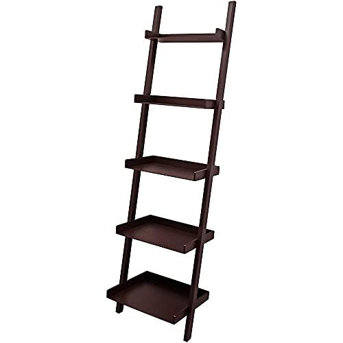"""kieragrace Providence Hadfield Leaning Shelf, 18"""" by 66"""", Espresso"""