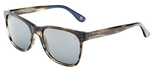 Etnia Barcelona Gafas de Sol MINNESOTA Striped Brown/Blue Grey Shaded Hd 55/17/145 unisex