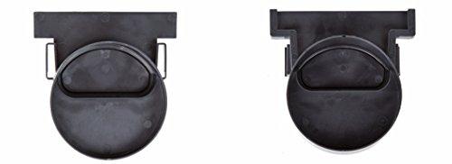 2x Stirnwände für Entwässerungsrinne Terrassenrinne 100mm Komplett