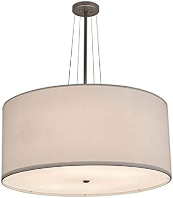 03d2a037d43 Modern Drum Pendant Light with White Shade in Satin Nickel Finish ...