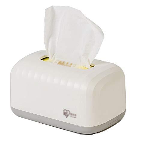 Dispensador de toallas La caja del dispensador del tejido facial blanco se puede colocar el soporte de tejido plástico simple y generoso en la mesa es la mejor opción para regalos caja de pañuelos