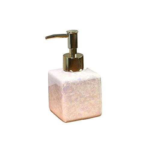 Zouzou Dispensador de jabón Dispensador de jabón de Manos cerámicas, Botellas de dispensador de líquidos, Contador de Cocina o decoración de Fregadero de Cocina dispensador de desinfectante