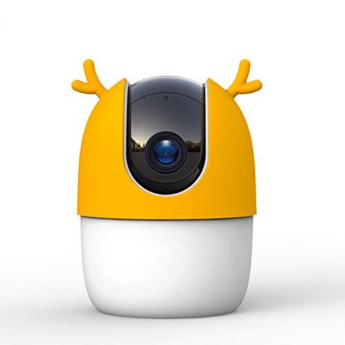 Babybewakingscamera, Intelligente Bewaking En Alarmverzending Zonder Geheugenkaart Intelligente Tracking Bewakingscamera Met 360 ° Dekking,Yellow