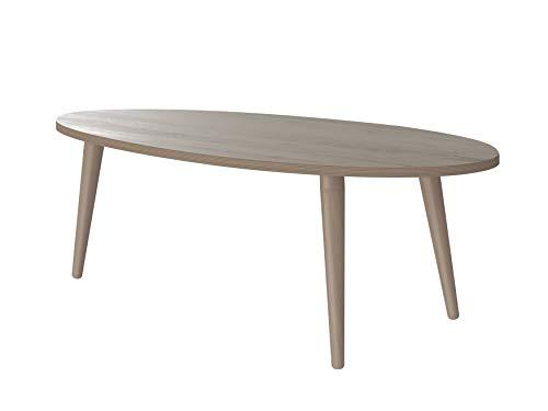 Marca Amazon -Movian Adour Modern - Mesa de centro ovalada, 55 x 110 x 39 cm (Efecto Roble)