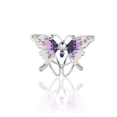 Broche de mariposa para bufanda, diseño de ramo de flores, con diamantes de imitación, para mujer, joyería de Navidad