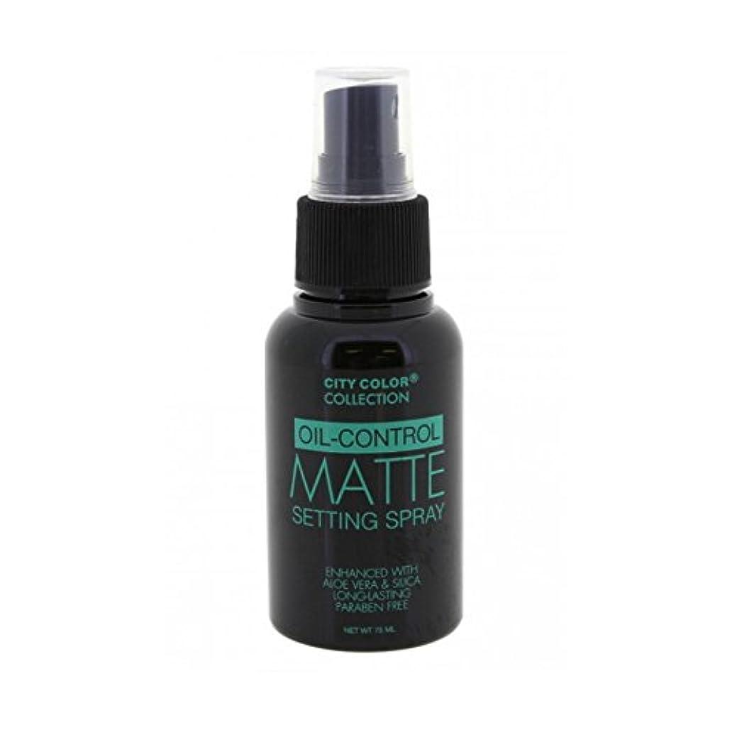 資料脇に免除する(3 Pack) CITY COLOR Oil-Control Matte Setting Spray (並行輸入品)
