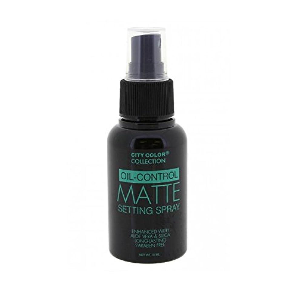 変換の間で実証するCITY COLOR Oil Control Matte Setting Spray (並行輸入品)
