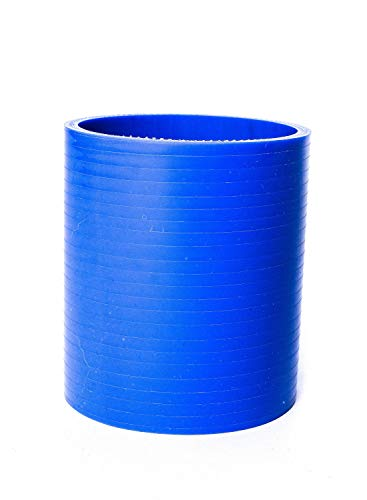 Gerader Silikonverbinder - Größe wählbar - Silikonschlauch Turbo Kühlwasserschlauch Hose Air flexibel, Farbe:Blau, Innendurchmesser:Ø 70 mm