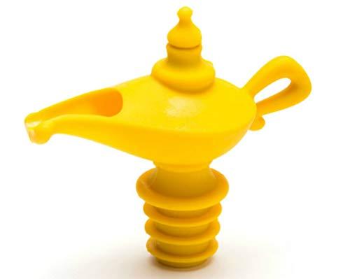 Peleg Design Oiladden | Ausgießer & Stopper, Silikon, gelb, 8 x 9 x 4,5 cm