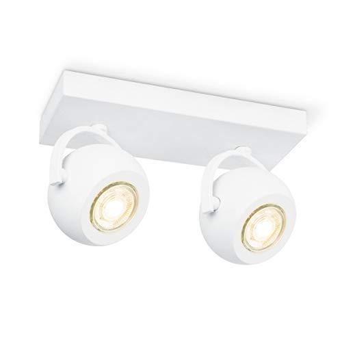 home sweet home collection Lámpara de techo LED, Arena y blanco, 2 Flammig