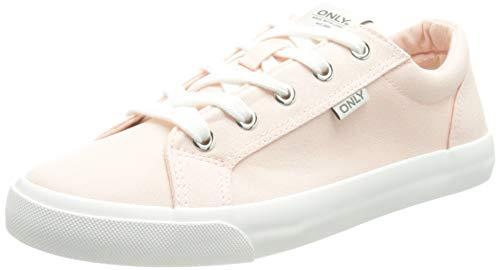 ONLY Damen ONLSUNNY-3 Canvas Sneaker, Rose Pink, 37 EU