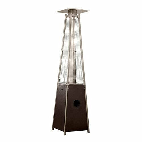 Patio Heater 13kW Pyramid Outdoor Stainless Steel Gas Heater - Black