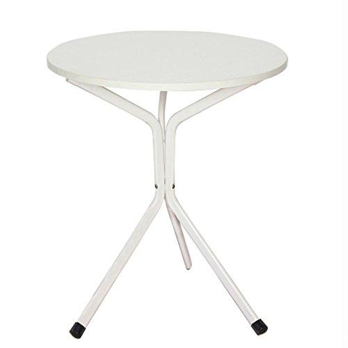 Runder Beistelltisch Kleiner Tisch Dreieckige Side Sofa Seitenschrank Runden Couchtisch Einfache Wohnzimmer Tisch 60,2 * 60,2 * 74 cm (Farbe : Weiß)