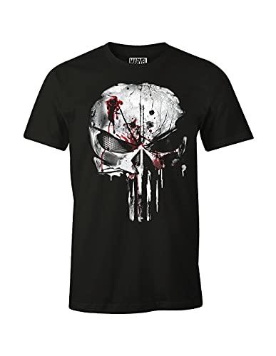 cotton division Herren Punisher T-Shirt, schwarz, XL