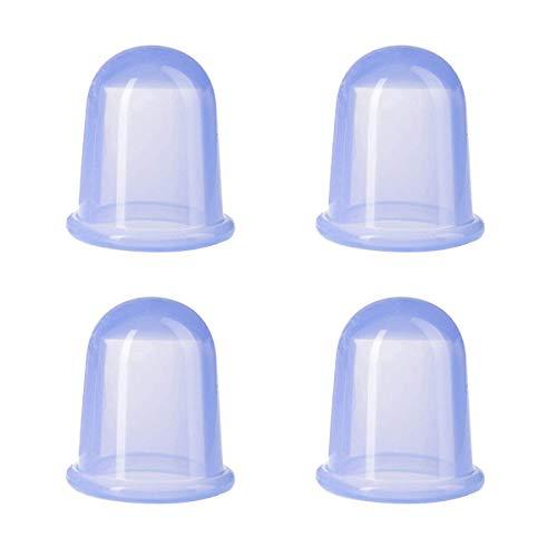 4 ventosas de silicona para masajes tradicionales (azul)