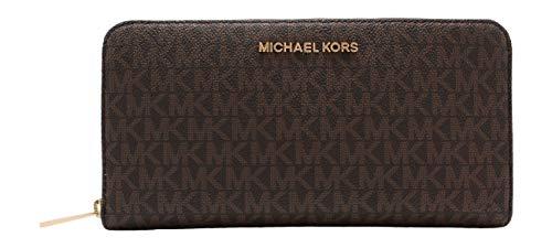 Michael Kors Women's Jet Set Travel Large Travel Wallet Brow