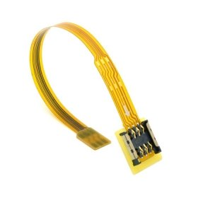 CableCC Micro SIM Karte zu Nano SIM Kit Stecker zu Buchse Verlängerung Soft Flat FPC Kabelverlängerung 10 cm
