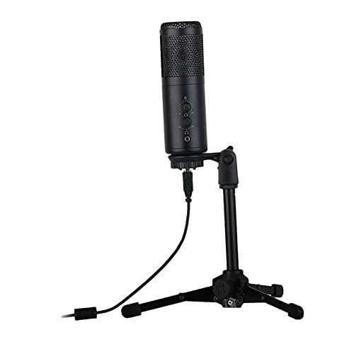 TISHITA USB con Microfono w/Treppiede per Lo Studio in Streaming di Registrazione del Computer Chat di Gioco - A9-a