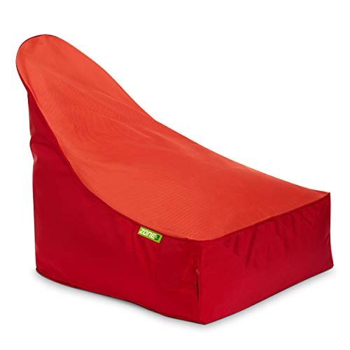 Green Bean © Zone3 Lounge Chair - Gaming Sitzsack 90x55x75 cm - 150L Füllung - erweiterbar, Abnehmbarer Bezug, wasserabweisend, schmutzabweisend - Gaming Stuhl für Kinder & Erwachsene - Rot/Orange