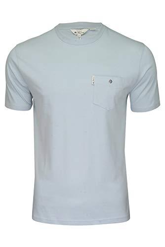 Ben Sherman Herren T-Shirt 'Signature Tee' R&hals Kurzarm (Himmel) XXXL
