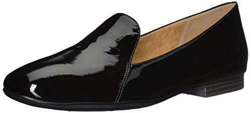 Naturalizer Women's Emiline Loafer Flats, Patent Leather Black, 10 N US