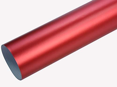 Neoxxim 8€/m2 Premium - Auto Folie - Chrom MATT Rot Ice 100 x 150 cm - blasenfrei mit Luftkanälen Klebefolie Selbstklebefolie selbstklebend flexibel