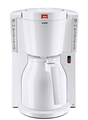 Melitta Look IV Therm, 1011-09, Coffee Machine with Insulated Jug, Aroma Selector, White