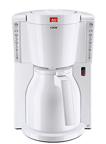 Melitta 1011-09, Filterkaffeemaschine, AromaSelector, Kaffeemaschine Look IV Therm, weiá, 1.2 liters, Thermkanne Weiß