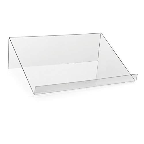 Boekenstaander/boekensteun als goederen drager en boekenplank van origineel PLEXIGLAS® (210 x 300 x 90 mm)