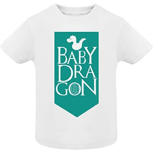 AKARURE Camiseta niño/a Baby Dragon - Juego de Tronos - Desde 6 Meses hasta 6 años (3/4 Años)