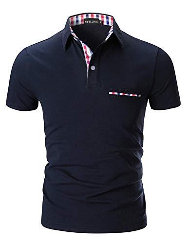 STTLZMC Casual Polo Hombre Mangas Corta Camisetas Deporte Al